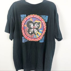 KISS Rock & Roll Over Graphic Band Tee Oversized